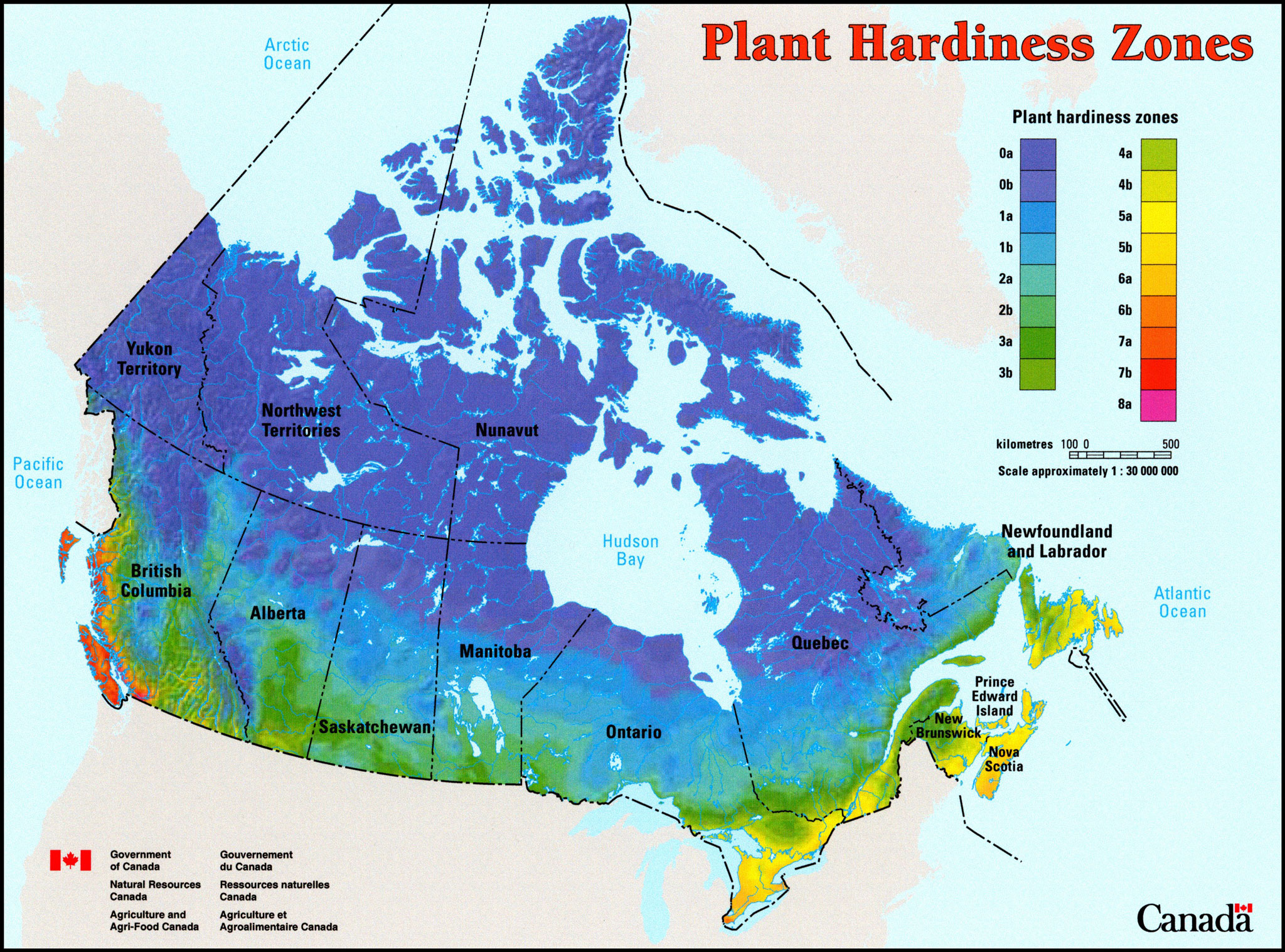 Hardy Zone Map Canada Clifty View Nursery   Plant Hardiness Zones