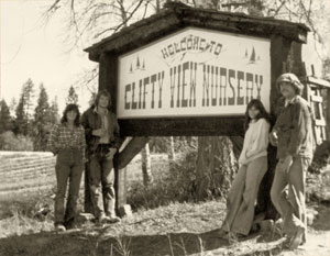 Clifty View Welcome sign 1981