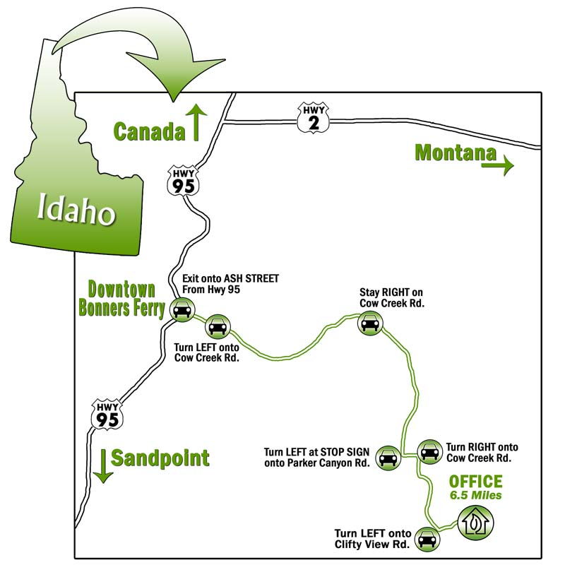 Hwy 95 Idaho Map.Clifty View Nursery Map Directions