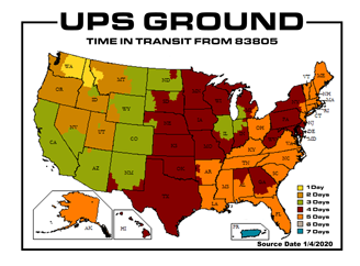 Ups Shipping Zone Map Us Ups Tracking Delivery Time Ups Us - Ups shipping zone map